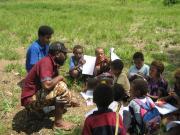 PSA tutors teaching small children